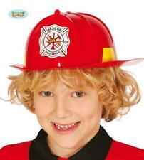 Casco Pompiere Bambino Vigile del Fuoco Carnevale Teatro Nuovo Halloween