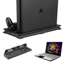PS4 Cooling Station Vertical Stand & 2 Controller Charging Dock PlayStation Set