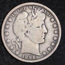1896-O Barber Half Dollar CHOICE VG+/FINE FREE SHIPPING E311 KBT