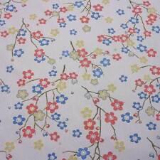 Stoff Meterware Baumwolle grau Kirschblüten Kimono 280 cm breit Japan überbreit