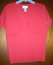Women's Red Short Sleeve Sweater by John Paul Richards – Size XL