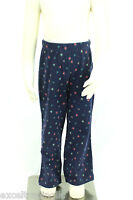 JACADI Girl's Adjoint Navy Blue Floral Print Flared Legging Sz: 10 Years NWT $32