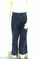 JACADI Girl's Adjoint Navy Blue Floral Print Flared Legging Sz: 8 Years NWT $32
