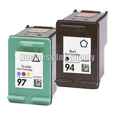 2 PK REMANUFACTURED HP 94 97 ink cartridge HP94 HP 97 Officejet H470 470b