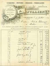 Dépt 25 - Morteau - Belle Verrerie Poterie Faïence Porcelaine & Cristaux de 1896