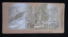 Stereoview Card #2421 The Room Of Pope Pius VII Fontainbleau HW Kilburn 1879