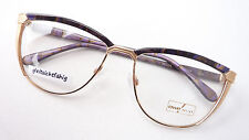 Frames Women's Glasses OWP HIGH QUALITY LARGE Exclusive Golden Purple Braun Size