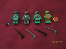 LEGO TMNT Turtles Ninja  Minifigures LOT Leonard,Donatello,Michelangelo,Raphael