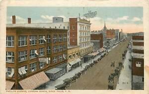 South Dakota, SD, Sioux Falls, Phillips Avenue Looking North 1917 Postcard