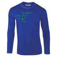 Herren Cannabis Molecule Langarm-T-Shirt Geschenk