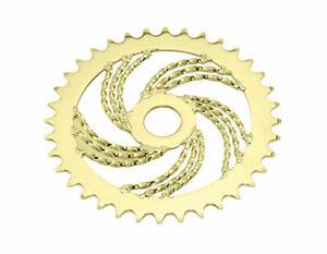 Lowrider Bicycle Sprocket TripleTwisted Steel Sprocket 1/2 X 1/8 36t Gold