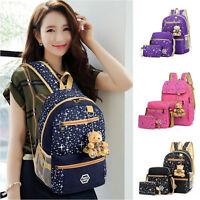 3Pc,Women Bags/Backpack Girl School Fashion Shoulder Bag Rucksack Travel Bags p8