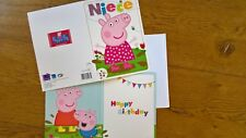 Peppa Pig Niece Birthday Girls Card 20 x 15 cm