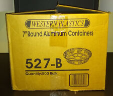 """7"""" Round Heavy Weight Foil Take Out Pans"""