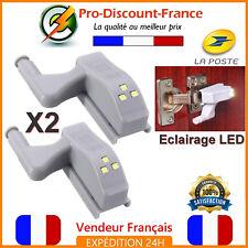 2 x Eclairage LED Meuble Charnière Lumière Cuisine Salle De Bain Placard Nuit