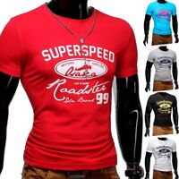 Strech T-Shirt O-Neck Sport Slim fit Body-Fit Superspeed