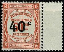 FRANCE 1917 TAXE n° 50a neuf ★★ luxe / MNH (Sans . après c) 1 dent courte BDF