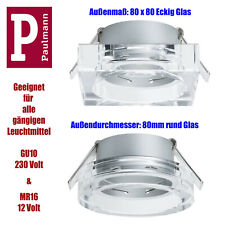 Paulmann 80mm Einbauleuchten Einbaulampe Spot Glasrand f. GU10 MR16 Leuchtmittel