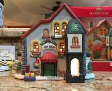 "Holiday Time Village Collectibles ""Toy Shop"" Porcelain House"