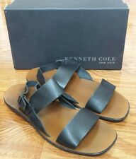 NEW KENNETH COLE New York Men's GREECE SANDAL Black 12 M US Made in Italy