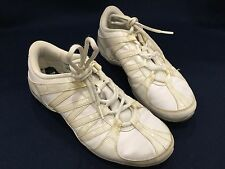 EXCELLENT Nike white leather cheerleader shoes size 7.5.  Almost mint
