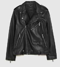 Las mejores ofertas en Chaqueta de moto Zara negro Abrigos y