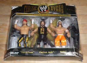 2006 WWF WWE Jakks Sabu Cactus Jack Terry Funk Classic Wrestling Figures 3 pack