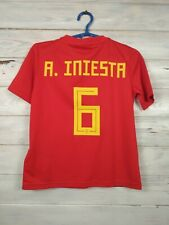 Iniesta Spain jersey 2018 2019 Home Youth 9-10 y Shirt Adidas Football BR2713
