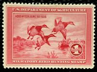 1935 US Federal Duck Stamps SC#RW2 Mint /no gum Well Centered CV:$175
