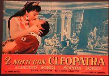 Fotobusta 2 NOTTI CON CLEOPATRA 1963 SOPHIA LOREN, ALBERTO SORDI, ETTORE MANNI