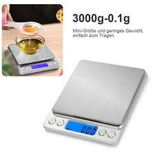 LCD Digital Küchenwaage Feinwage Gramm Waag Präzision Briefwaage 3kg/0,1g