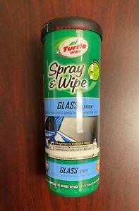 Turtle Wax Spray & Wipe 4-In-1 GLASS CLEANER Car Auto Mirror Windshields Windows