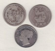 More details for three 1816/1826 & 1839 silver shillings in a well used condition.