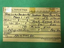 1945 YANKEES: Herb Crompton SIGNED Heilbroner 3x5, D.1963!
