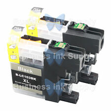 2 BLACK New LC103 LC103XL LC103 for Brother LC-103 LC101 LC 103 LC101BK LC103BK