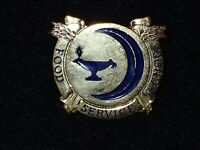 US Army Reserve Food Service School DI DUI Crest Pin-Back Vintage