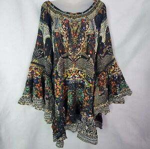 Women's Camilla Franks Behind Closed Doors Silk A Line Frill Dress Size Small