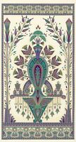 "Fabric Egyptian Floral Valley of the Kings Jewel Cream Cotton 23""x42"" Panel"
