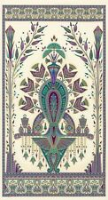 """Fabric Egyptian Floral Valley of the Kings Jewel Cream Cotton 23""""x42"""" Panel"""