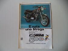 advertising Pubblicità 1977 MOTO MORINI 500