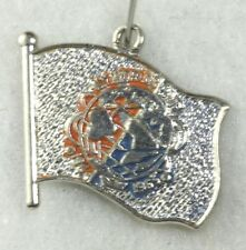 LARGE VTG NYWF NEW YORK WORLDS FAIR 1964 1965 STERLING SILVER FLAG CHARM
