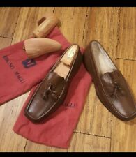 Bruno magli Brown Classic Loafers Shoes Italy 8.5 M