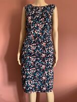 Coast floral print gathered/ruched detail wiggle dress UK12 occasion wedding