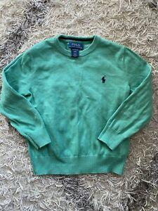 Boys Polo Ralph Lauren Sz 4 4T Kids Toddler Sweater Pima Cotton Soft Bud Green