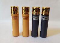 Black & Gold Electronic Clipper Lighters, Clipper Lighter, Gas Lighter *GENUINE*