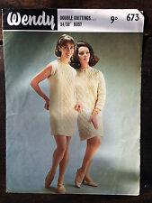 """Emu Knitting Pattern: Ladies Dress & Coat, DK, 34/38"""", 673"""