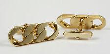 Gemelos panzermuster, Oro Amarillo 585 , muy sólido TIRADORES, 22,6 gr
