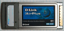 D-Link DWL-650+ 2.4GHz Wireless Cardbus Adapter WiFi