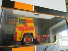 Miniature lorry tr075 scania lbt 141 1976 ixo yellow/red tractor 1/43