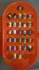 mighty beanz mixed lot of 28 and storage case small toys 2004